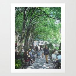 Bryant Park_painting Art Print