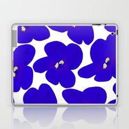 Blue Retro Flowers #decor #society6 #buyart Laptop & iPad Skin