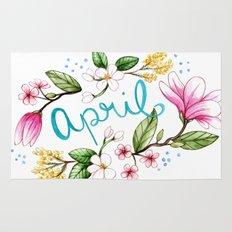 April Flowers Rug
