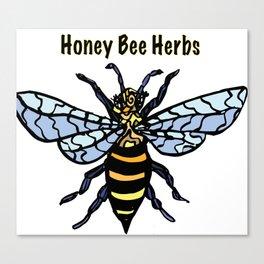 Honey Bee Herbs Logo Canvas Print