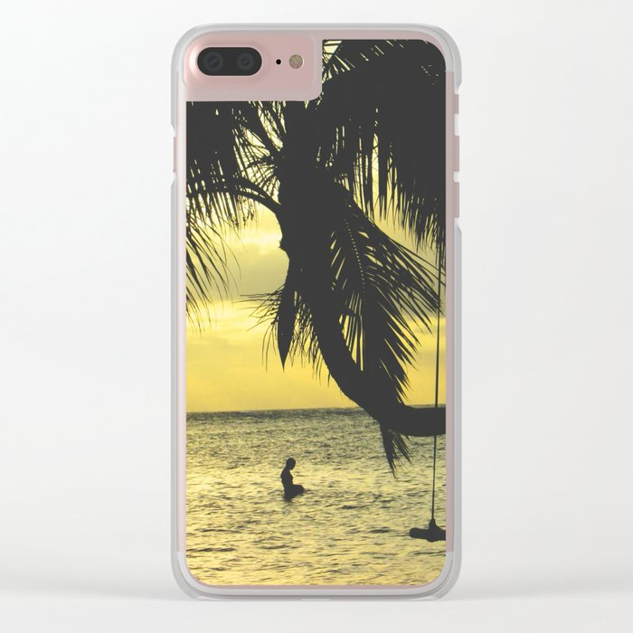 Sunset on the Island Clear iPhone Case