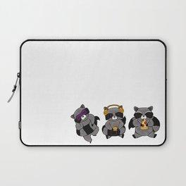 three wise raccoon Laptop Sleeve