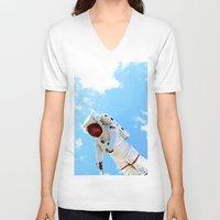 spaceman V-neck T-shirts featuring Spaceman by Richwill Company