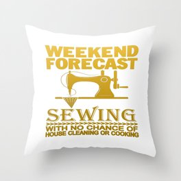 WEEKEND FORECAST SEWING Throw Pillow