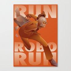 RUN ROBO RUN Canvas Print