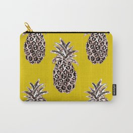 Gold Pineapples on mustard Carry-All Pouch