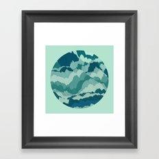 TOPOGRAPHY 006 Framed Art Print