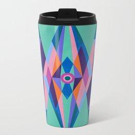 Sacred Geometric Triad Metal Travel Mug