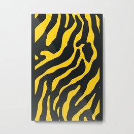 Tiger Skin Pattern Turbo Yellow Metal Print
