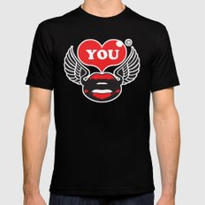 You MEDIUM Mens Fitted Tee Black