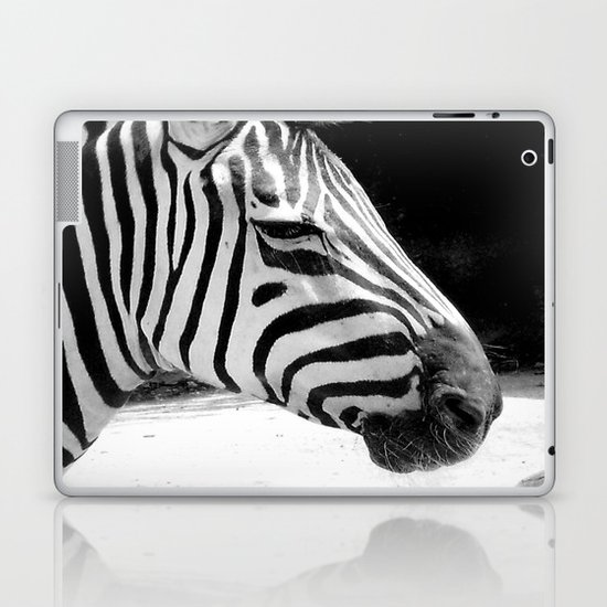 b&w zebra Laptop & iPad Skin
