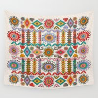 southwest Wall Tapestries featuring Southwest by Helene Michau