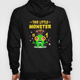 1st Birthday Gift 1 Year Little Monster Hoody