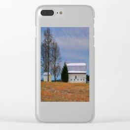Christmas Barn Clear iPhone Case