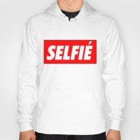 selfie Hoodies featuring Selfie by Poppo Inc.