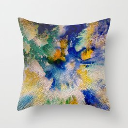 Extruded - photo comp Throw Pillow