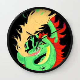 Fire-breathing Dragon Wall Clock