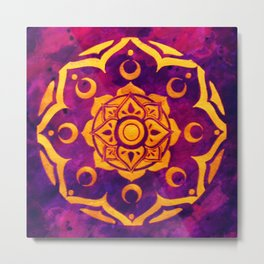 """Witchcraft""  WATERCOLOR MANDALA (HAND PAINTED) BY ILSE QUEZADA Metal Print"