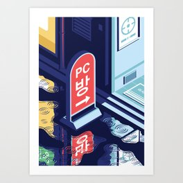 A night out in Seoul - Part 6 - PC Bang Art Print