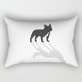Wild At Heart - Black French Bulldog Rectangular Pillow