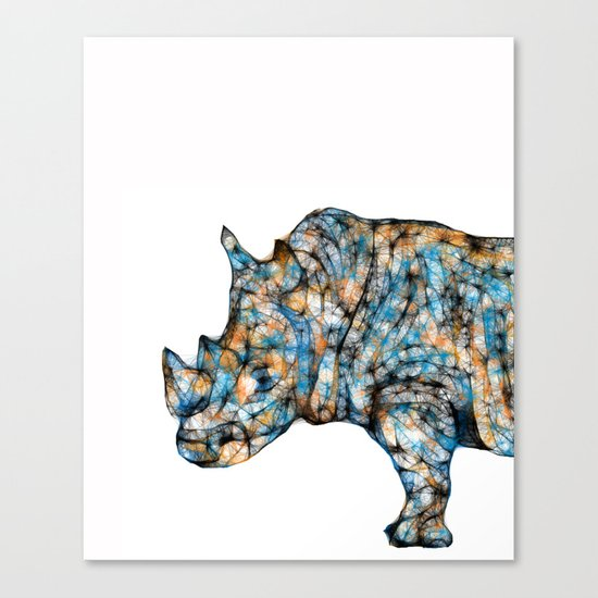 Rhino-no text Canvas Print