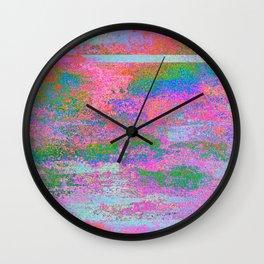 08-12-13 (Building Pink Glitch) Wall Clock