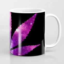 Weed : High Times fuchsia Pink Purple Galaxy Coffee Mug