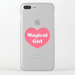 Heart Magical Girl Clear iPhone Case