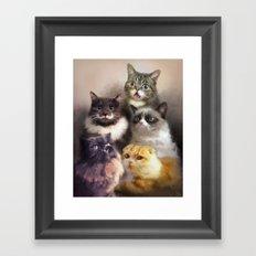 Cats On The Internet Framed Art Print