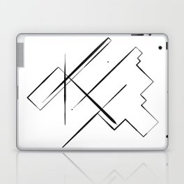 Black Lines Laptop & iPad Skin