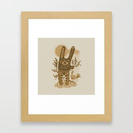 Brown Rabbit Framed Art Print