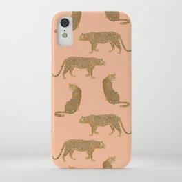 sunset leopards iPhone Case