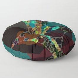 mylene - deep rich jewel tones emerald teal turquoise plum coffee abstract Floor Pillow