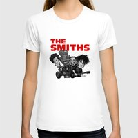 smiths T-shirts featuring The Smiths (white version) by BinaryGod.com