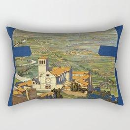 Assisi vintage poster Rectangular Pillow