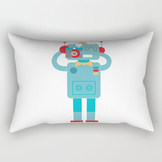 Robot loves Diana Rectangular Pillow