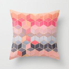 Happy Cubes Throw Pillow