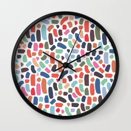 Brush strokes pattern #2 Wall Clock
