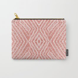 Peach African Dye Resist Fabric Carry-All Pouch