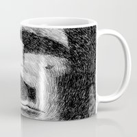 island Mugs featuring Easter island - Moai statue - Ink by Nicolas Jolly