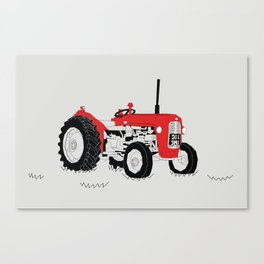 Vintage Tractor Red Canvas Print