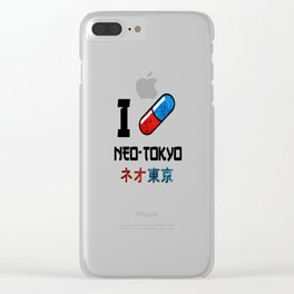 I Love Neo-Tokyo Clear iPhone Case