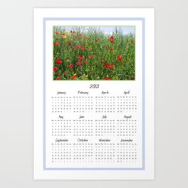 Poppy Meadow 2013 Calendar Art Print