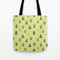 earthbound Tote Bags featuring Earthbound - Mother 2 by Nikki White