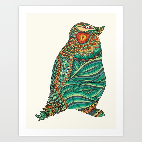 Ethnic Penguin Art Print