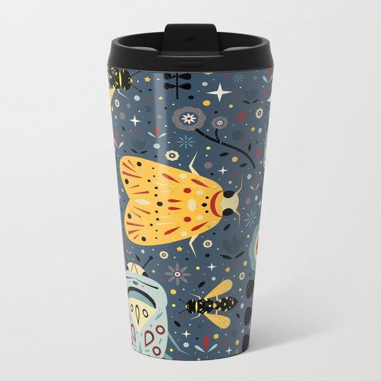 Midnight Bugs Metal Travel Mug