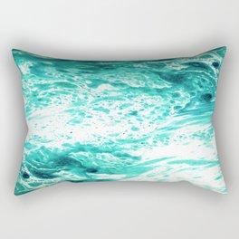 Teal Marble Rectangular Pillow