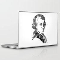 mozart Laptop & iPad Skins featuring Wolfgang Amadeus Mozart by Pablo Toussaint
