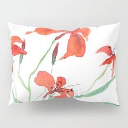 orange day lily Pillow Sham