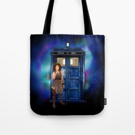 Mrs River and the tardis Tote Bag